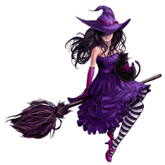 Halloween_Purple_Witch_PNG_Picture